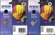 2 Tintenpatronen Epson Black T019