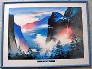 Wandbild mit Wald Gebirge Motiv