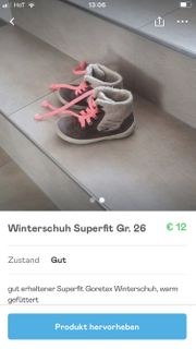 Winterschuh Superfit Gr 25