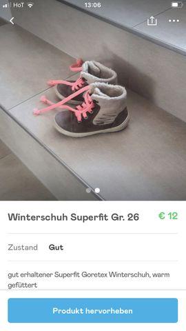 Winterschuh Superfit Gr.25