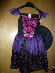 Halloweenkleid 2-teilig Hexenkostüm für 7 -