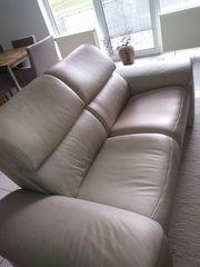 Leder-Sofa 2-Sitzer