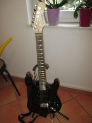 E Gitarre Clifton Black Strat