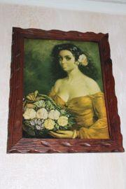 Gemälde Bild schöne Frau mit
