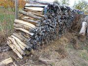 Brennholz Meterstücke gespalten