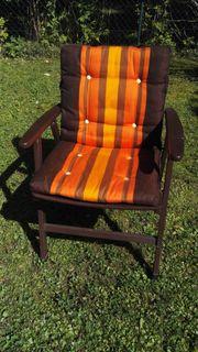 5 Gartenstühle aus massivem Buchenholz