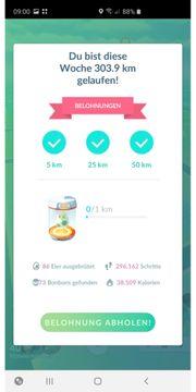 Laufservice in Pokemon Go 100km