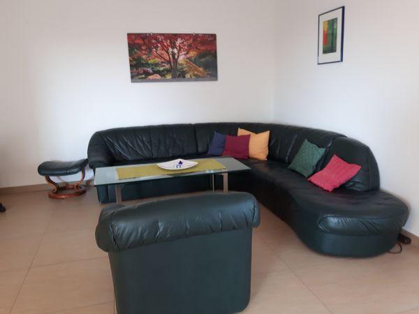 Kernleder Ecksofa + 1 » Polster, Sessel, Couch