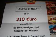 Gutschein für den Brauerreigasthof Schäffler