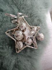Weihnachtsschmuck Weihnachtskugeln Weihnachtsstern silber