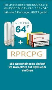 Iqos 15Euro Gutscheincode RPRCPG Heets