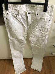 Weiße Herrenhose Skinny Fit