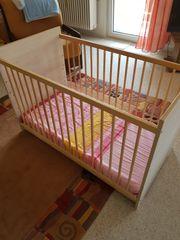 Babybett Kleinkind Gitterbett 3-fach verstellbar