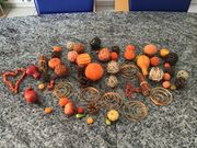 Herbst-Deko Tisch-Dekoration Kürbis