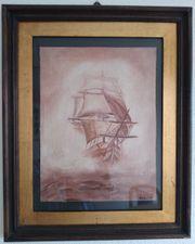 Schiff im Nebel Öl auf