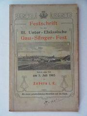 Festschrift für das III Unter-Elsässische