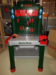 Kinderwerkbank aus Plastik ohne Werkzeug