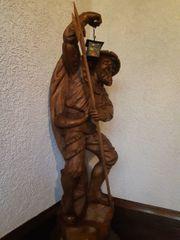 Holzfigur Schnitzerei Nachtwächter handgeschnitzt 115