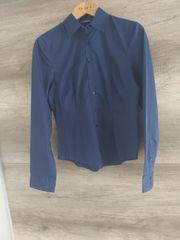 Business Hemd dunkelblau marine NEU
