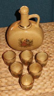Schnapsset Keramik Flasche mit Deckel