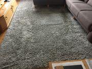 Shaggy Teppich grau 240x340 cm