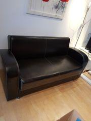 2er Couch schwarz