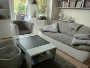 Sofa mit Sessel Sitzsack und