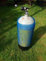 Tauchflasche Stahlflasche Tauchgerät 15Liter Volumen