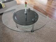 Couch-Tisch aus Glas und Marmor