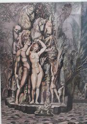 Maler Ernst Fuchs - Radierung signiert