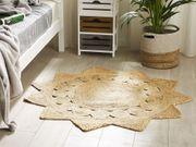 Teppich Jute beige 120 cm
