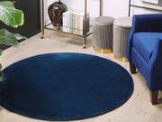 Teppich marineblau ø 140 cm