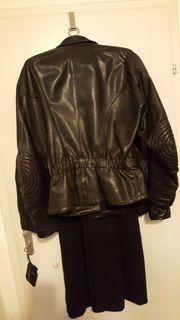 Motorrad Lederjacke schwarz Größe XL