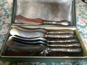Antike Silbermesser Messer Buttermesser 6