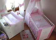 Krone Rosa Babybett-Krone Wickelkommode NEU
