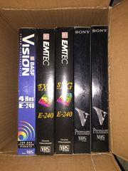 VHS Cassetten 5 Stück 240