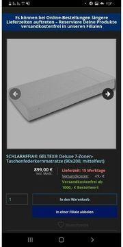 SCHLARAFFIA GELTEX Deluxe 7-Zonen-Taschenfederkernmatratze 90x200