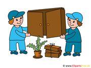 Hilfe beim Möbeltransport
