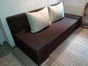 Gut erhaltene Couch Farbe braun
