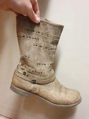ausgefallene Stiefeletten aus echte Leder