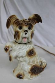 Porzellan Tierfigur Rauchverzehrer Hund beleuchtet