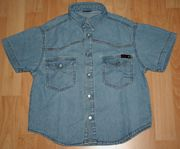 Blaues Jeans-Hemd - Größe 110 - Sommer-Hemd -