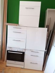 Einbauküche IKEA Faktum Hochglanz weiß