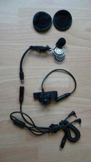 Helm-Kopfhörer Set mit Mikrophone