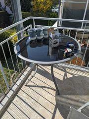 Balkon Tisch und 2 Stühle