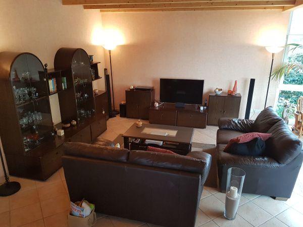 massivholzmobel wohnzimmerschrank, wohnzimmer komplett, bestehend aus massivholzmöbel, ledersofas in, Design ideen