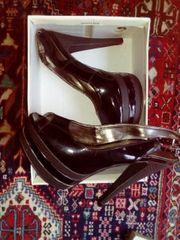 Plateaus Sandalette Peeptoes High Heels