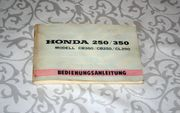 Honda CB250 CB350 Bedienungsanleitung Original