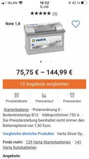 Autobatterie Varta E 38 Silver