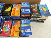 26 VHS Kassetten E240 bespielt